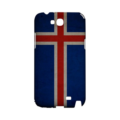 Grunge Iceland Geeks Designer Line Flag Series Slim Hard Case for Samsung Galaxy Note 2