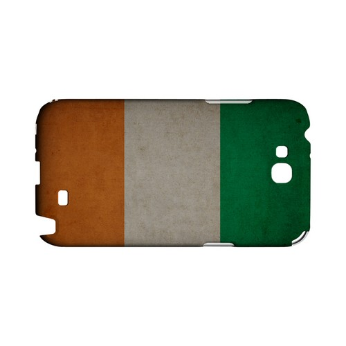 Grunge Ireland Geeks Designer Line Flag Series Slim Hard Case for Samsung Galaxy Note 2