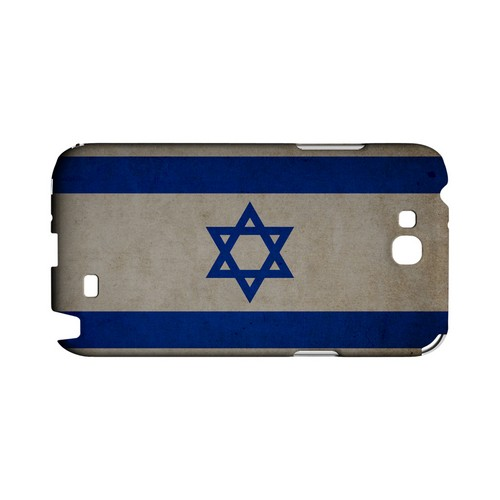 Grunge Israel Geeks Designer Line Flag Series Slim Hard Case for Samsung Galaxy Note 2
