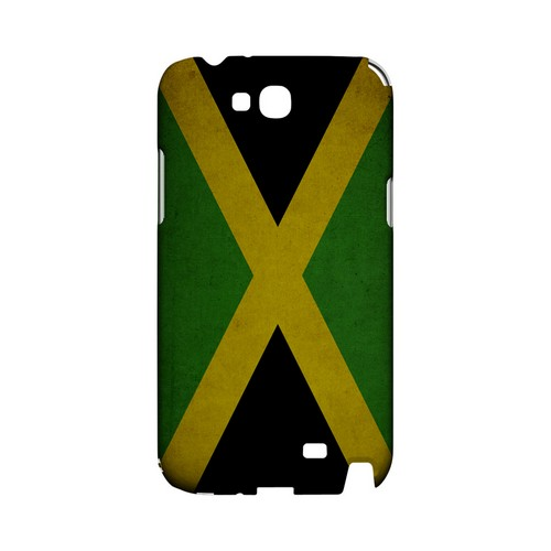 Grunge Jamaica Geeks Designer Line Flag Series Slim Hard Case for Samsung Galaxy Note 2