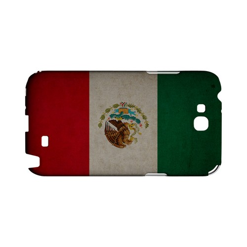 Grunge Mexico Geeks Designer Line Flag Series Slim Hard Case for Samsung Galaxy Note 2