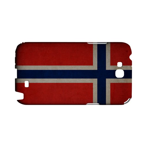 Grunge Norway Geeks Designer Line Flag Series Slim Hard Case for Samsung Galaxy Note 2