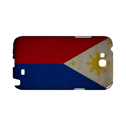 Grunge Philippines Geeks Designer Line Flag Series Slim Hard Case for Samsung Galaxy Note 2