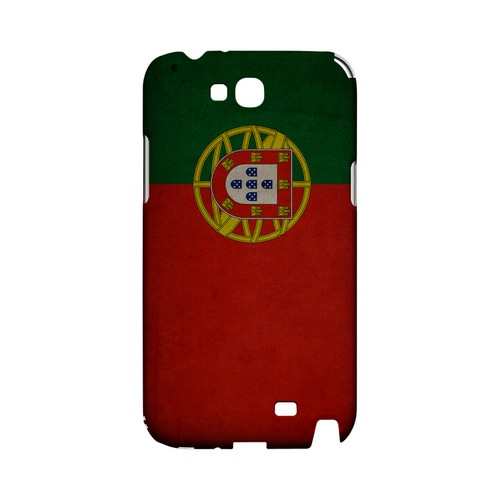 Grunge Portugal Geeks Designer Line Flag Series Slim Hard Case for Samsung Galaxy Note 2