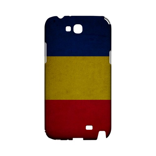Grunge Romania Geeks Designer Line Flag Series Slim Hard Case for Samsung Galaxy Note 2
