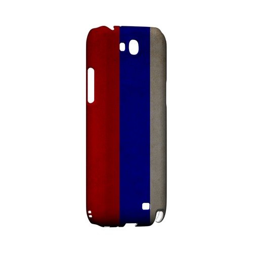 Grunge Russia Geeks Designer Line Flag Series Slim Hard Case for Samsung Galaxy Note 2