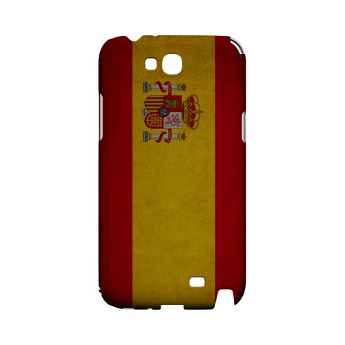 Grunge Spain Geeks Designer Line Flag Series Slim Hard Case for Samsung Galaxy Note 2
