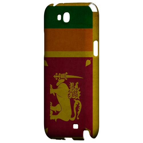 Grunge Sri Lanka Geeks Designer Line Flag Series Slim Hard Case for Samsung Galaxy Note 2