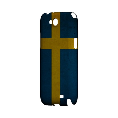 Grunge Sweden Geeks Designer Line Flag Series Slim Hard Case for Samsung Galaxy Note 2
