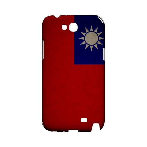 Grunge Taiwan Geeks Designer Line Flag Series Slim Hard Case for Samsung Galaxy Note 2