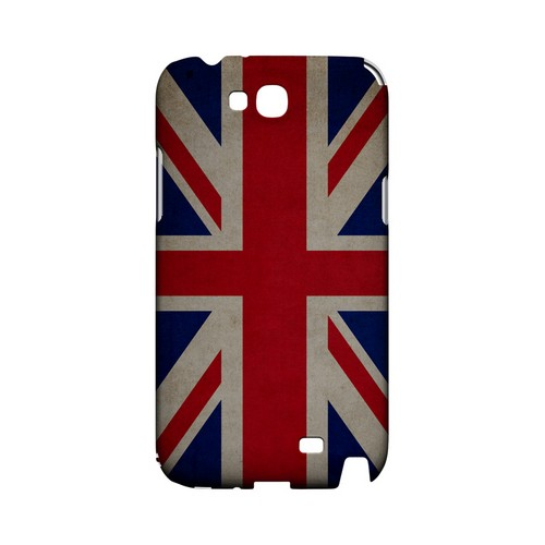 Grunge United Kingdom Geeks Designer Line Flag Series Slim Hard Case for Samsung Galaxy Note 2