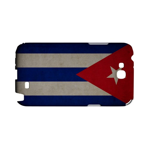 Grunge Cuba Geeks Designer Line Flag Series Slim Hard Case for Samsung Galaxy Note 2