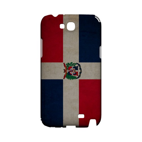 Grunge Dominican Republic Geeks Designer Line Flag Series Slim Hard Case for Samsung Galaxy Note 2