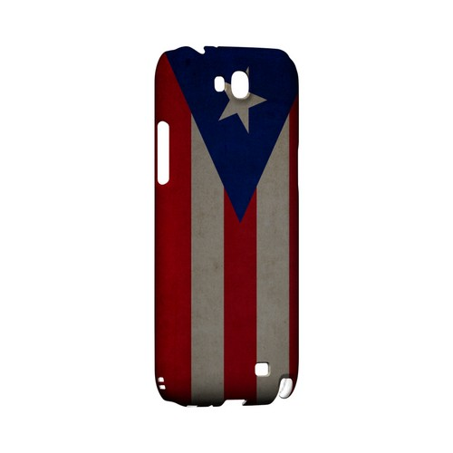 Grunge Puerto Rico Geeks Designer Line Flag Series Slim Hard Case for Samsung Galaxy Note 2