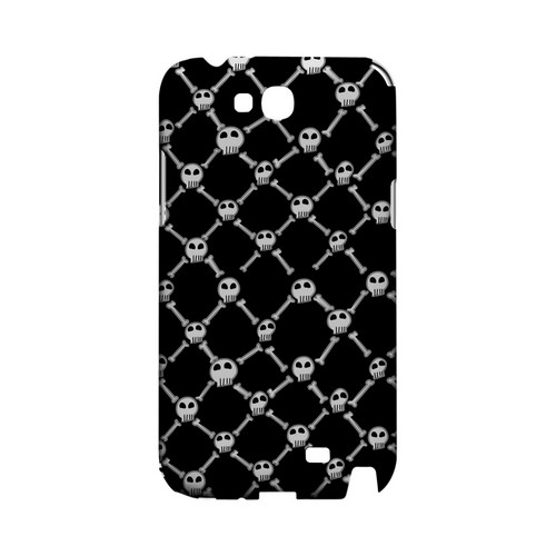 White Skull & Crossbones on Black - Geeks Designer Line (GDL) Monster Mash Series Hard Back Cover for Samsung Galaxy Note 2