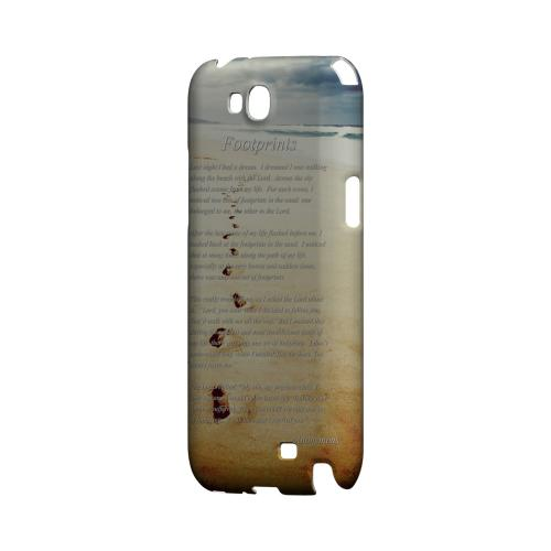 Footprints Geeks Designer Line Beach Series Slim Hard Case for Samsung Galaxy Note 2