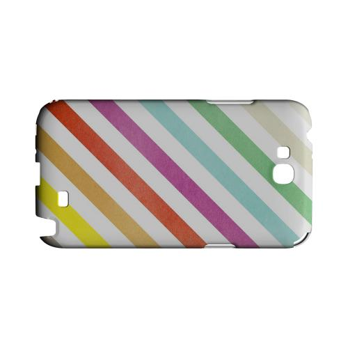 Dirty Diagonal Multi-Color - Geeks Designer Line Stripe Series Hard Case for Samsung Galaxy Note 2