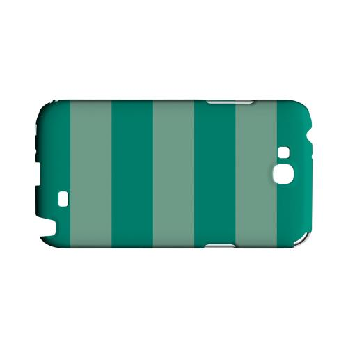 Emerald Grayed Jade - Geeks Designer Line Stripe Series Hard Case for Samsung Galaxy Note 2