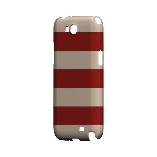 Linen Poppy Red - Geeks Designer Line Stripe Series Hard Case for Samsung Galaxy Note 2