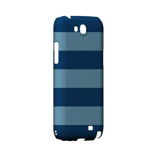 Monaco Blue/ Dusk Blue - Geeks Designer Line Stripe Series Hard Case for Samsung Galaxy Note 2