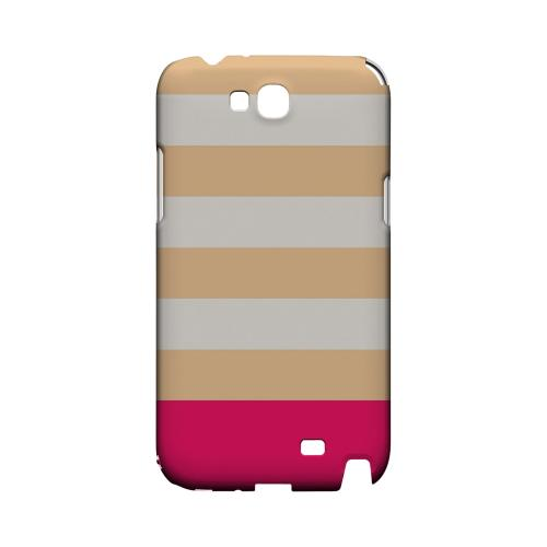 Pink Candy Stripes w/ Pink Bar - Geeks Designer Line Stripe Series Hard Case for Samsung Galaxy Note 2