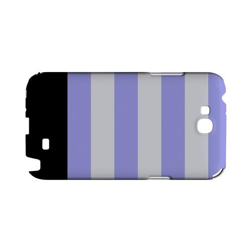 Purple Candy Stripes w/ Black Bar - Geeks Designer Line Stripe Series Hard Case for Samsung Galaxy Note 2