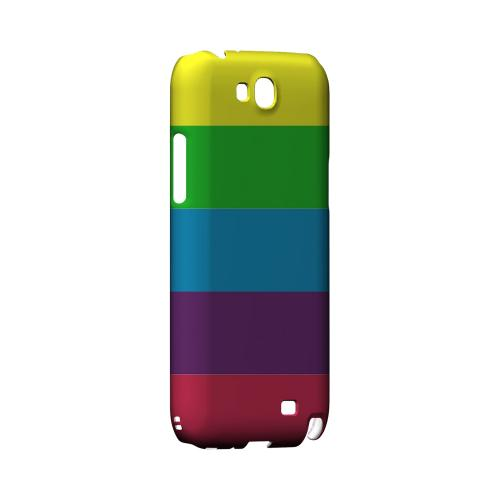 Rainbow Candy Stripes - Geeks Designer Line Stripe Series Hard Case for Samsung Galaxy Note 2