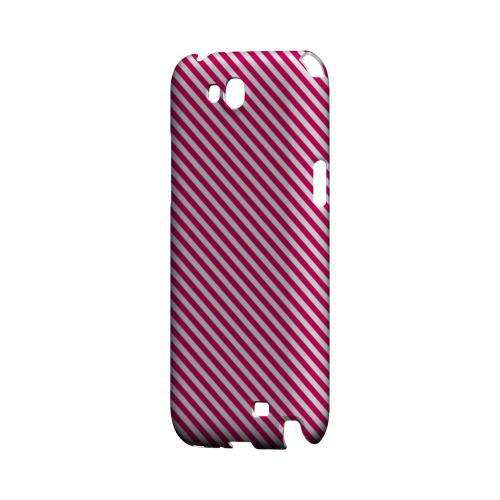 Thin Hot Pink Diagonal - Geeks Designer Line Stripe Series Hard Case for Samsung Galaxy Note 2