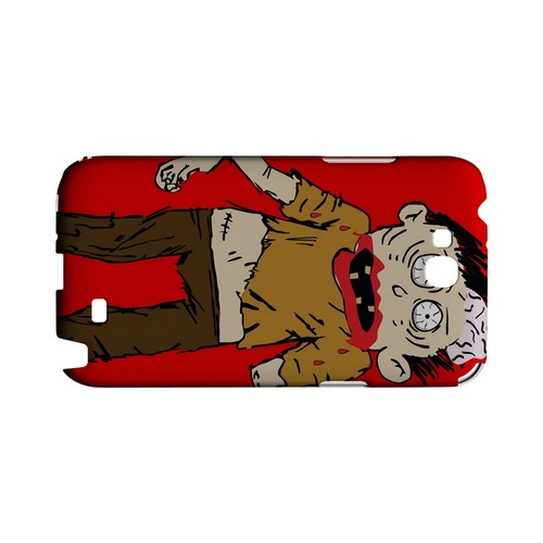 Zombie on Red - Geeks Designer Line (GDL) Monster Mash Series Hard Back Cover for Samsung Galaxy Note 2