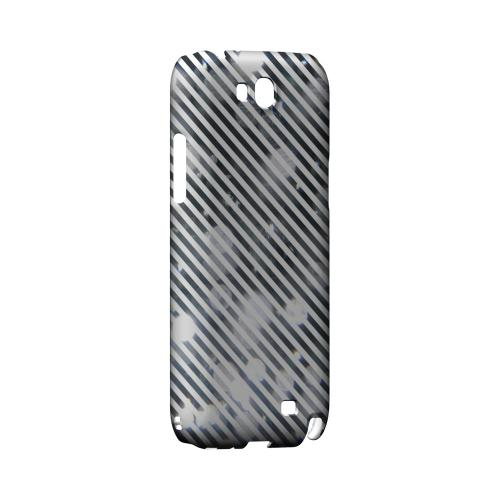 Thin Shimmer Diagonal - Geeks Designer Line Stripe Series Hard Case for Samsung Galaxy Note 2