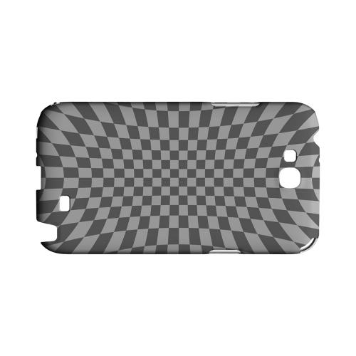 Distortion - Geeks Designer Line Checker Series Hard Case for Samsung Galaxy Note 2