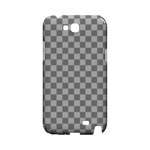 Gray/ Light Gray - Geeks Designer Line Checker Series Hard Case for Samsung Galaxy Note 2