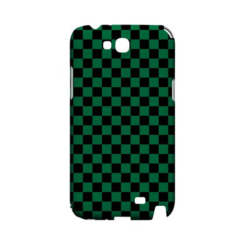 Green/ Black - Geeks Designer Line Checker Series Hard Case for Samsung Galaxy Note 2