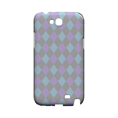 Gray/ Blue/ Purple Argyle - Geeks Designer Line Checker Series Hard Case for Samsung Galaxy Note 2