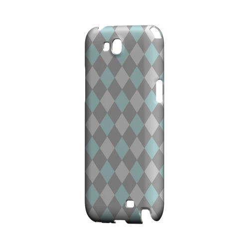 Pink/ Blue/ Gray Argyle - Geeks Designer Line Checker Series Hard Case for Samsung Galaxy Note 2