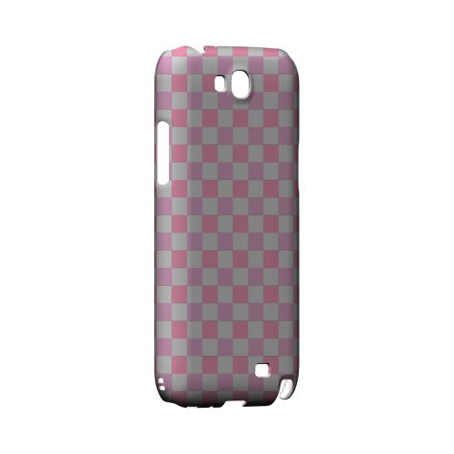 Pinkish - Geeks Designer Line Checker Series Hard Case for Samsung Galaxy Note 2