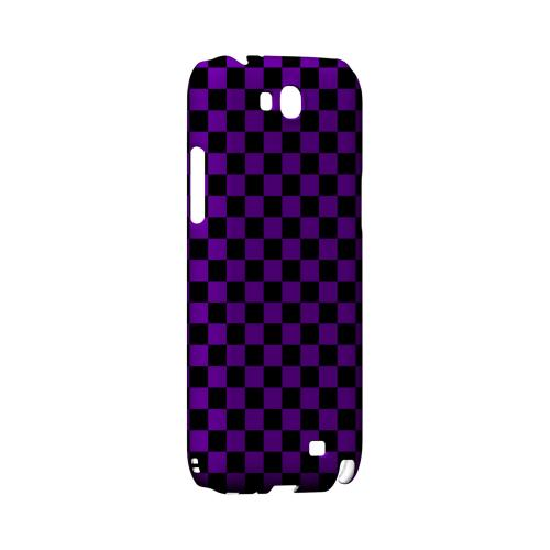 Purple/ Black - Geeks Designer Line Checker Series Hard Case for Samsung Galaxy Note 2