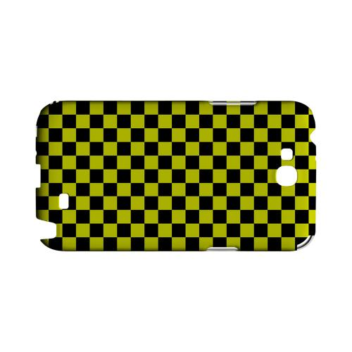 Yellow/ Black - Geeks Designer Line Checker Series Hard Case for Samsung Galaxy Note 2