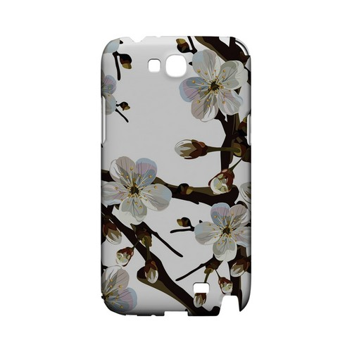 White Cherry Blossom - Geeks Designer Line Floral Series Hard Case for Samsung Galaxy Note 2