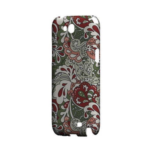 Green/ Red/ Pink Paisley - Geeks Designer Line Floral Series Hard Case for Samsung Galaxy Note 2