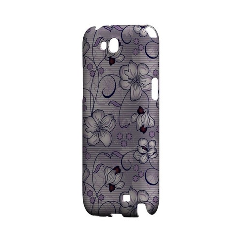 Floral Stripes Hint of Purple - Geeks Designer Line Floral Series Hard Case for Samsung Galaxy Note 2