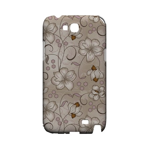 Floral Stripes Linen - Geeks Designer Line Floral Series Hard Case for Samsung Galaxy Note 2