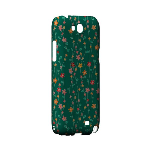 Flowers & Vines on Green - Geeks Designer Line Floral Series Hard Case for Samsung Galaxy Note 2