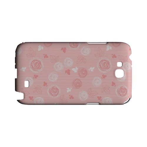 Leaves Scribble Pinkish - Geeks Designer Line Floral Series Hard Case for Samsung Galaxy Note 2