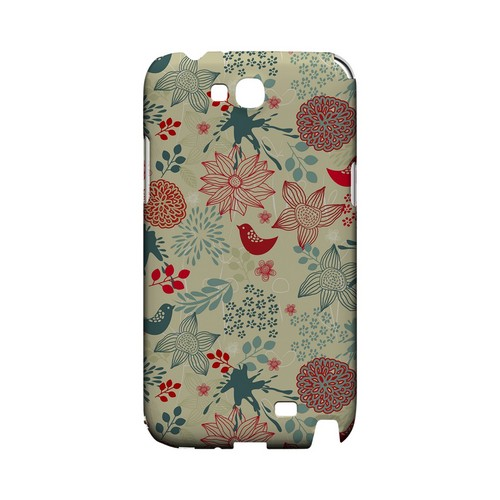 Lovebird Floral Splatter - Geeks Designer Line Floral Series Hard Case for Samsung Galaxy Note 2