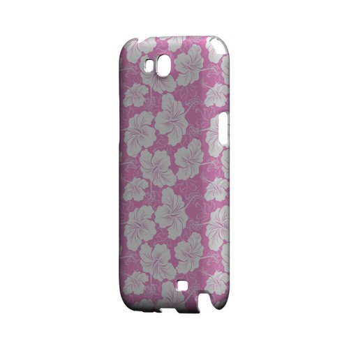 White Hibiscus on Pink - Geeks Designer Line Floral Series Hard Case for Samsung Galaxy Note 2