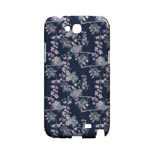 Pink/ White Floral on Blue - Geeks Designer Line Floral Series Hard Case for Samsung Galaxy Note 2