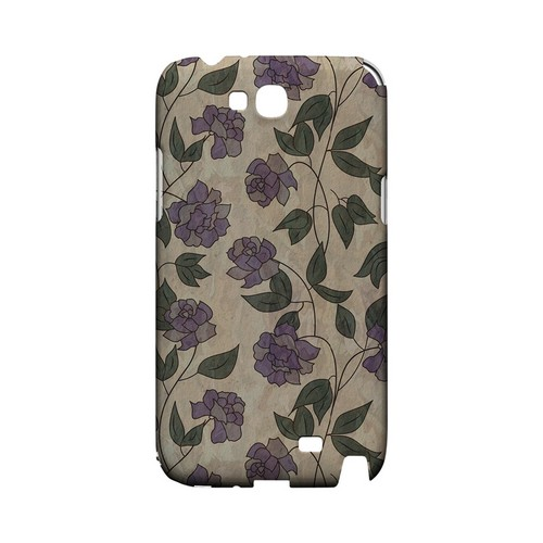 Purple Flowers & Vines Wallpaper - Geeks Designer Line Floral Series Hard Case for Samsung Galaxy Note 2