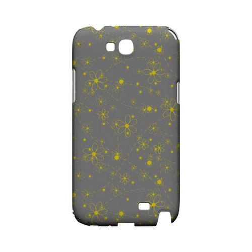 Yellow Daisies on Gray - Geeks Designer Line Floral Series Hard Case for Samsung Galaxy Note 2