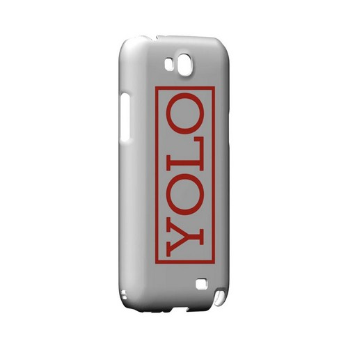 Red YOLO - Geeks Designer Line YOLO Series Hard Case for Samsung Galaxy Note 2